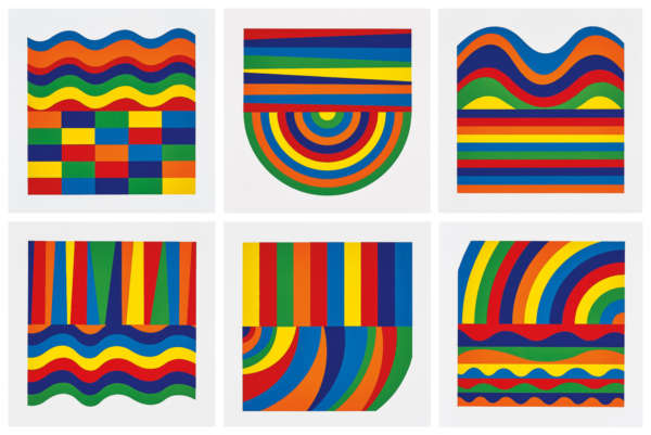 Arcs and Bands in Color - Sol LeWitt