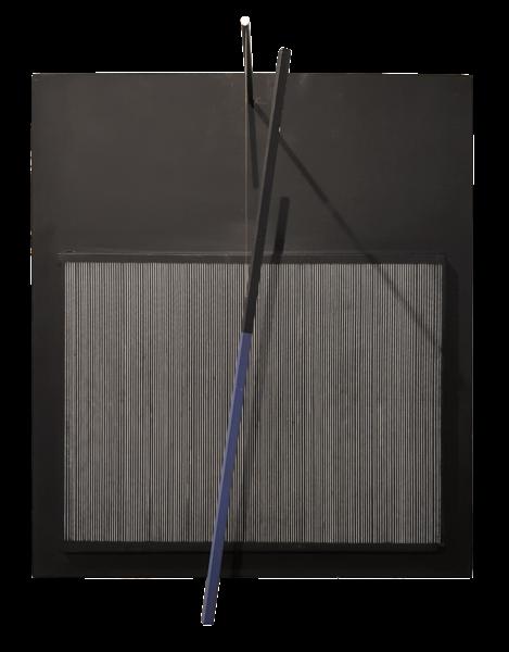 Incliné bleu et noir - Jesús Rafael Soto