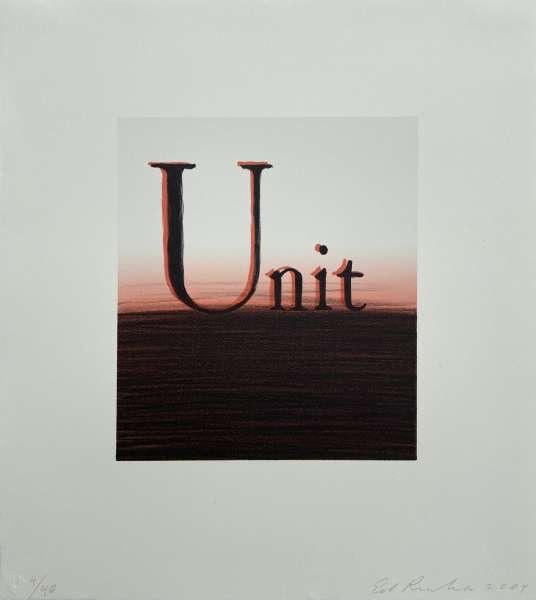 Unit - Ed Ruscha