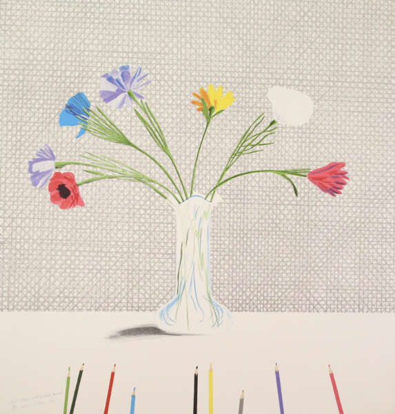 Coloured Flowers Made of Paper and Ink - David Hockney