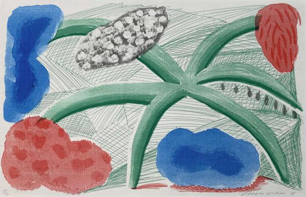 Landscape With A Plant - David Hockney