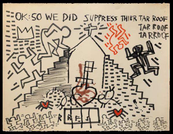 Untitled - Basquiat Haring