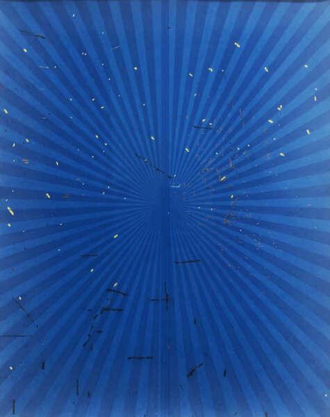 Untitled (Cerulean Blue and True Blue Butterfly 45.89) - Mark Grotjahn