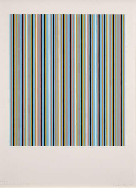 Four Colours, Black and White - Bridget Riley