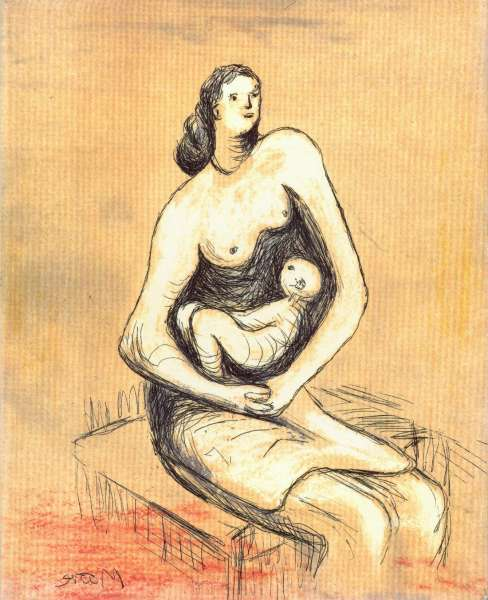 Henry Moore - Mother and Child Etchings - British Art