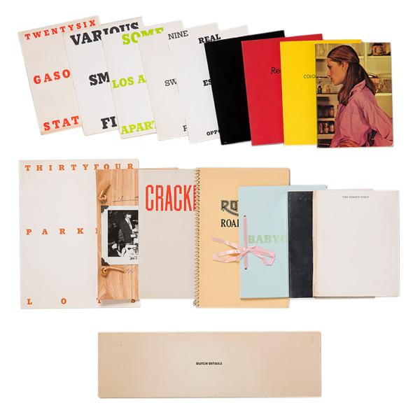 A complete & signed collection of Ed Ruscha first edition artists' books (Engberg B1-B8, B10-B17) - Ed Ruscha