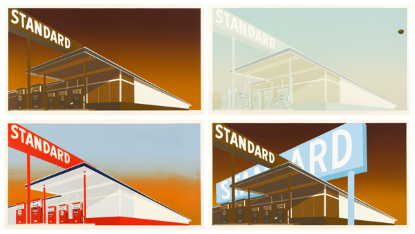 i) Standard Station; ii) Mocha Standard; iii) Cheese Mold Standard with Olive; iv) Double Standard - Ed Ruscha