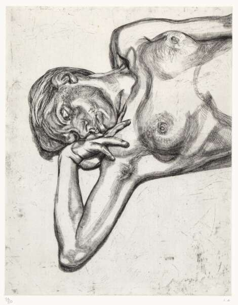 Head and Shoulders of a Girl - Lucian Freud