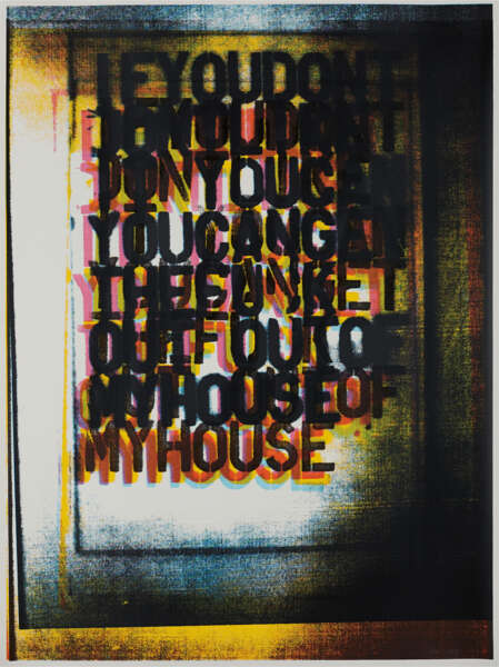 My House I - Christopher Wool