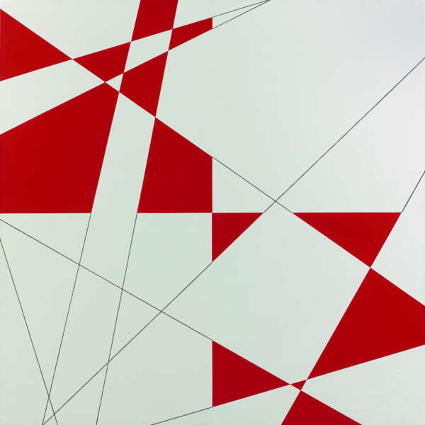 10 Lignes Au Hasard Hybrides Rouge et Blanc - François Morellet