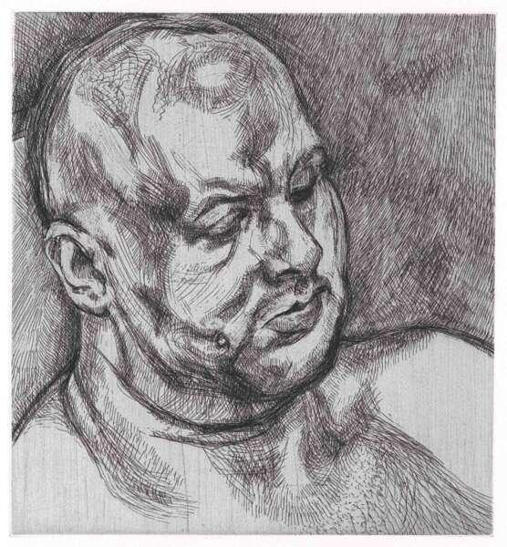 Head of a Man - Lucian Freud