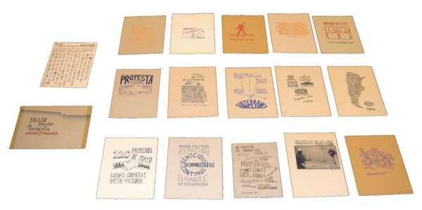 Portfolio of 15 Protest Screenprints - Taller Popular de Serigrafía