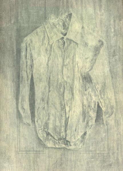 Study of a Crumpled Shirt on a Hanger - Julian Dyson