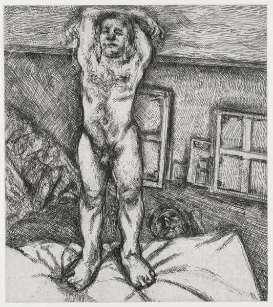 Two Men In The Studio - Lucian Freud