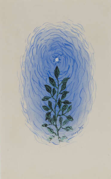 Plant with Flowers and Leaves - René Magritte