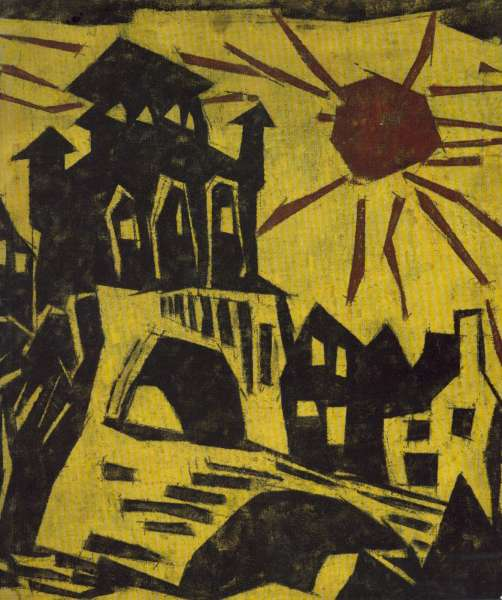Lyonel Feininger - Drawings, Watercolours and related Oil Paintings - Lyonel Feininger