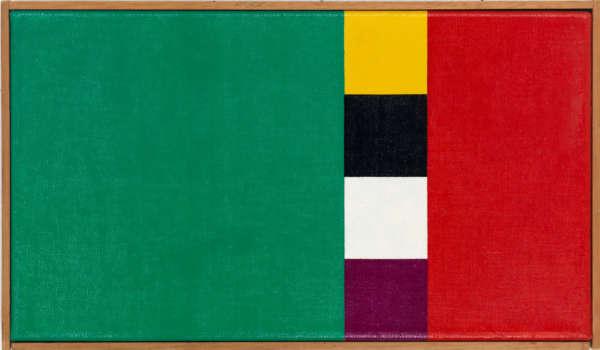 Konkretion mit drei Farbkomplementen I - Camille Graeser