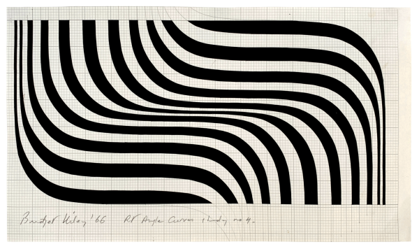 Right Angle Curves Study No.4 - Bridget Riley