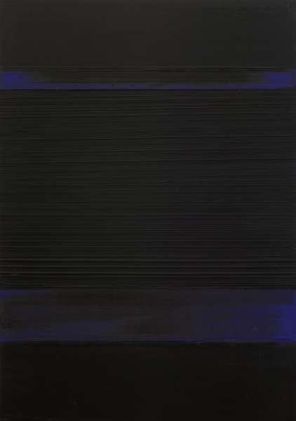 Peinture 130 x 92 cm, 8 avril 1989 - Pierre Soulages