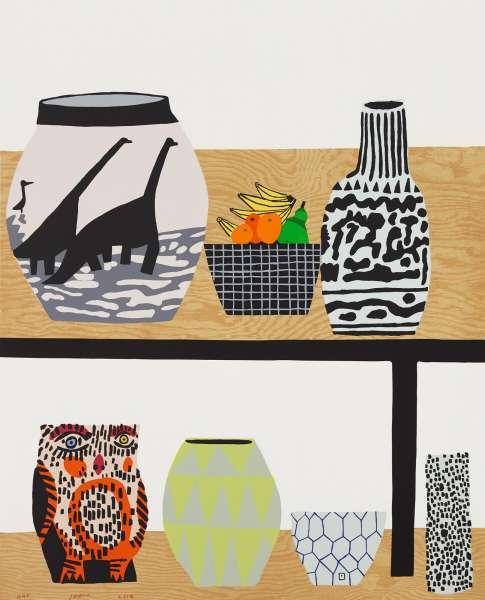 Shelf Still Life - Jonas Wood