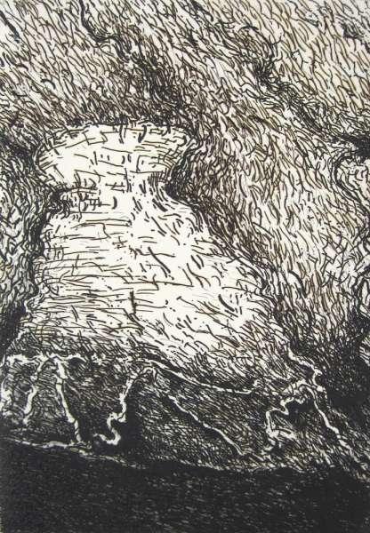 Untitled (Drax Tower) - Hughie O'Donoghue